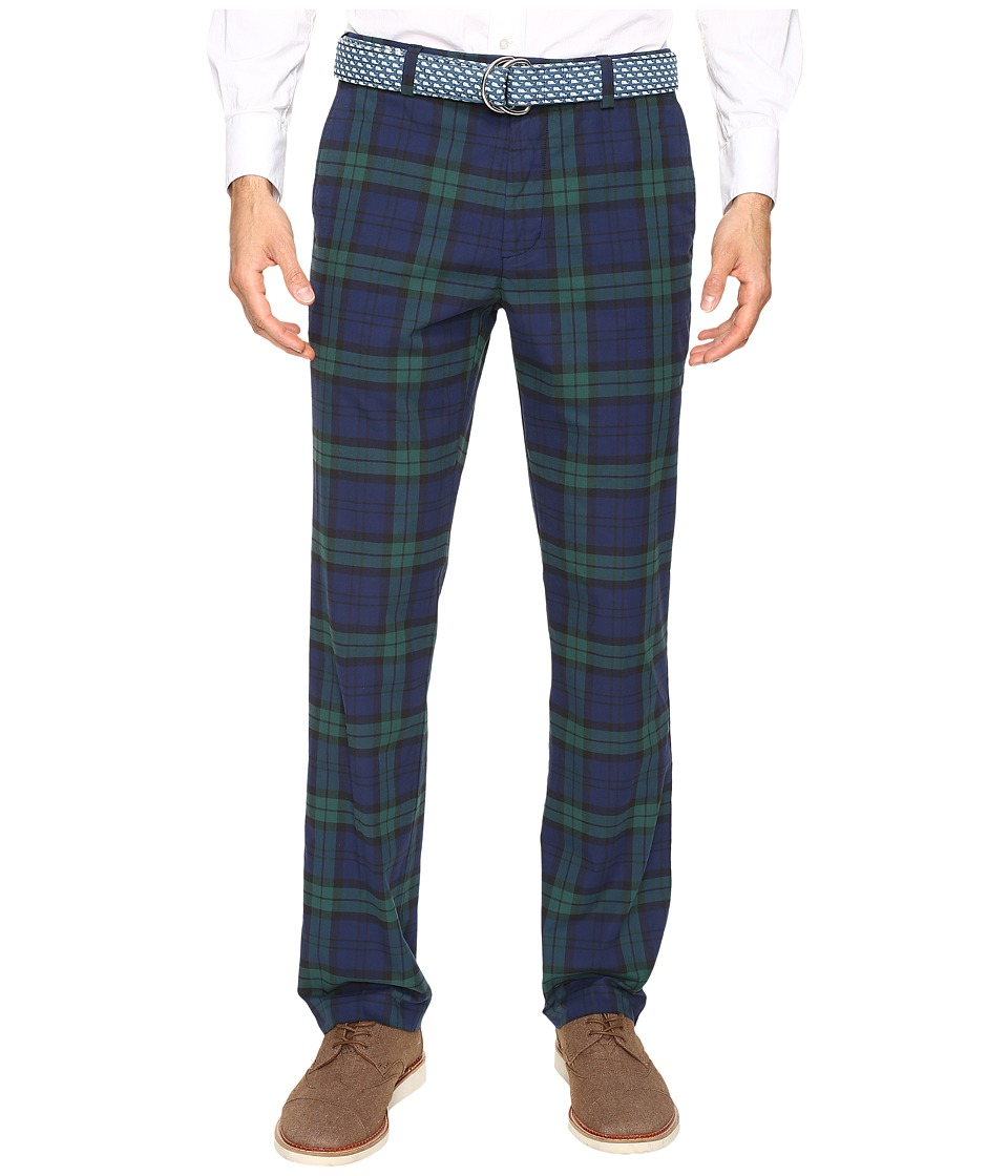 Vineyard Vines - Blackwatch Twill Burgee Pants (Deep Bay) Men's Casual Pants