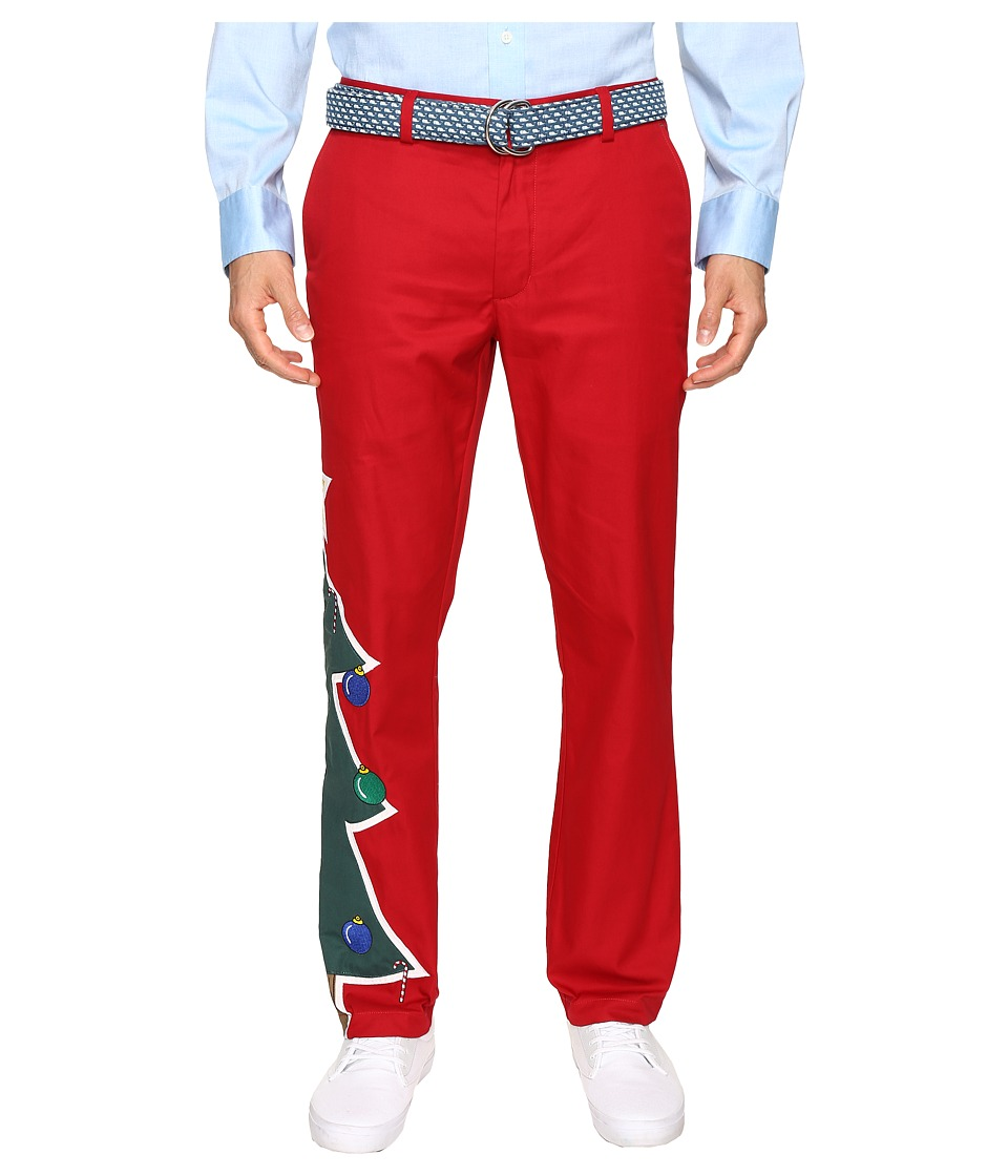 Vineyard Vines - Christmas Tree Breaker Pants (Vermilion) Men's Casual Pants