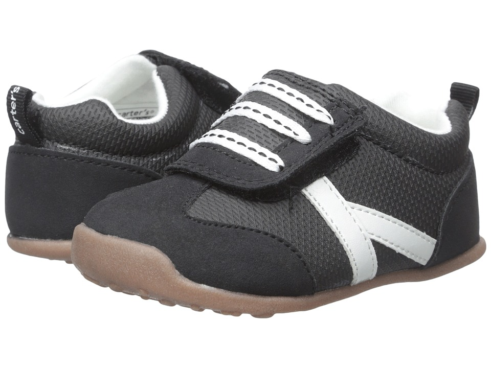 Carters - Every Step - Oldie-BW2 (Toddler) (Black) Boy's Shoes