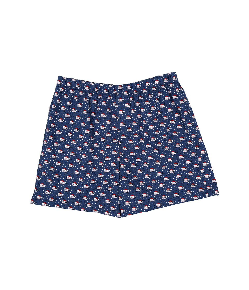 Vineyard Vines - Santa Whale Boxer Shorts (Moonshine) Men's Underwear