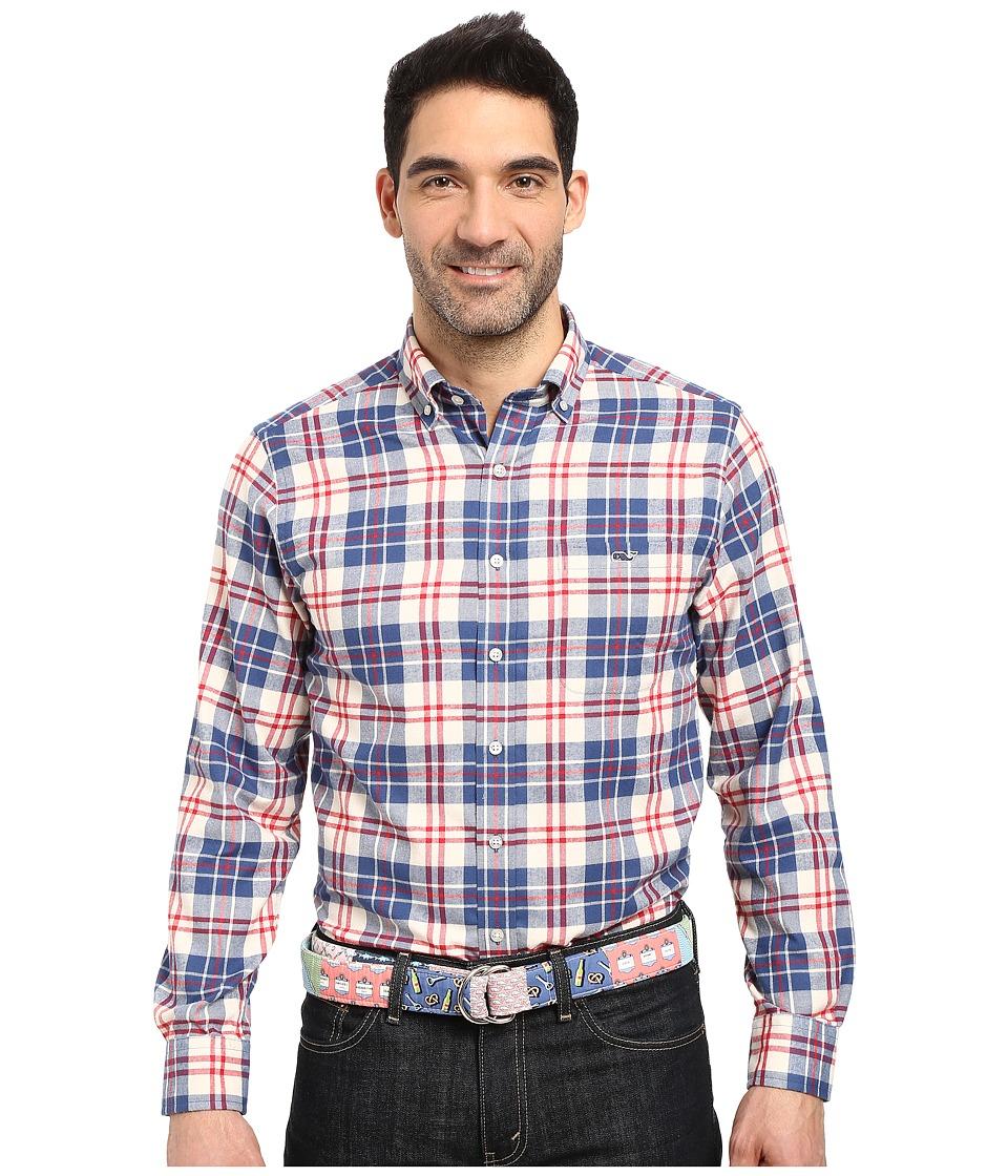 Vineyard Vines - Dorchester Plaid Slim Tucker Shirt (Moonshine) Men's Clothing