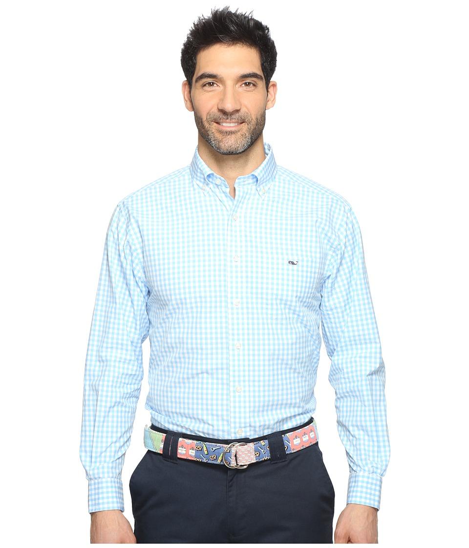 Vineyard Vines - Elmont Gingham Classic Tucker Shirt (Ocean Breeze) Men's Clothing