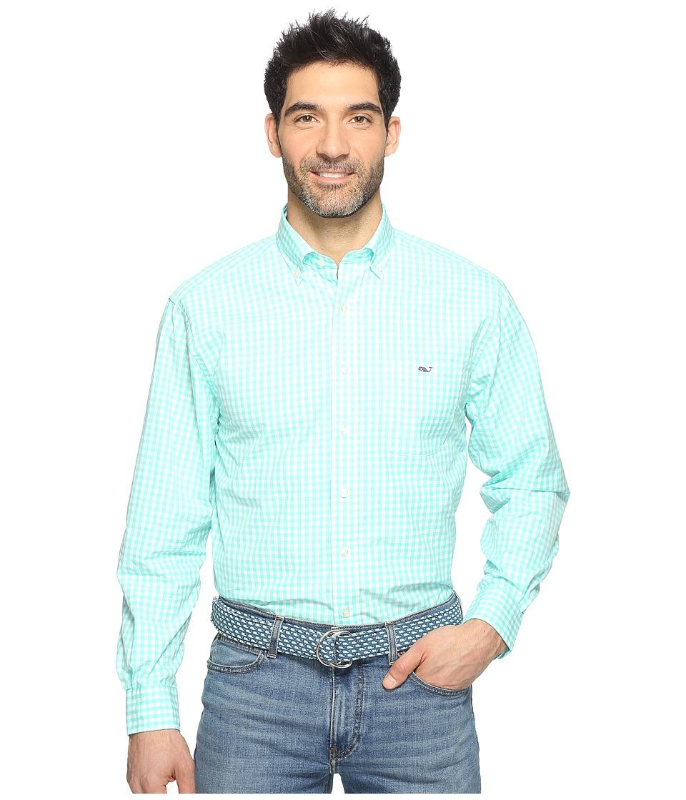 Vineyard Vines - Elmont Gingham Classic Tucker Shirt (Capri Blue) Men's Clothing