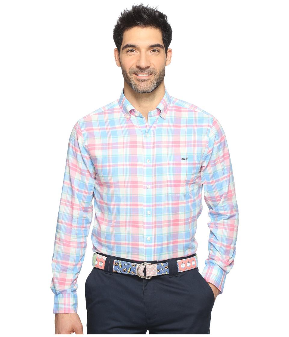 Vineyard Vines - Kings Point Plaid Slim Tucker Shirt (Bahama Breeze) Men's Clothing