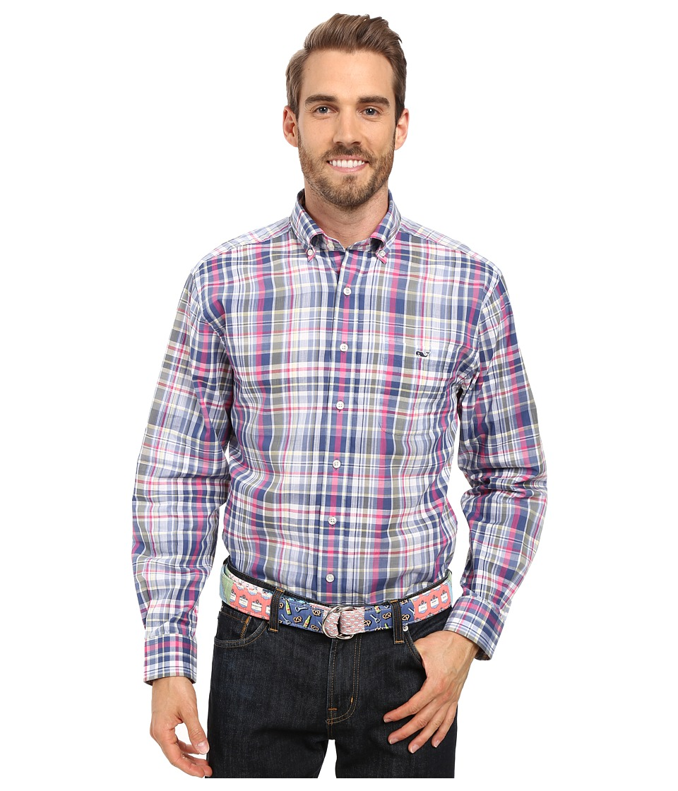 Vineyard Vines - Wilfin Plaid Classic Tucker Shirt (Spanish Moss) Men's Clothing