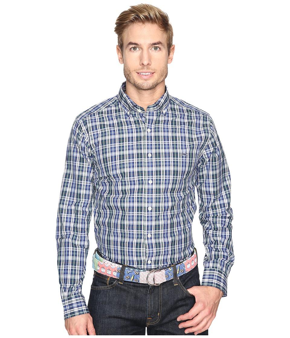 Vineyard Vines - Trumpet Plaid Slim Tucker Shirt (Charleston Green) Men's Clothing