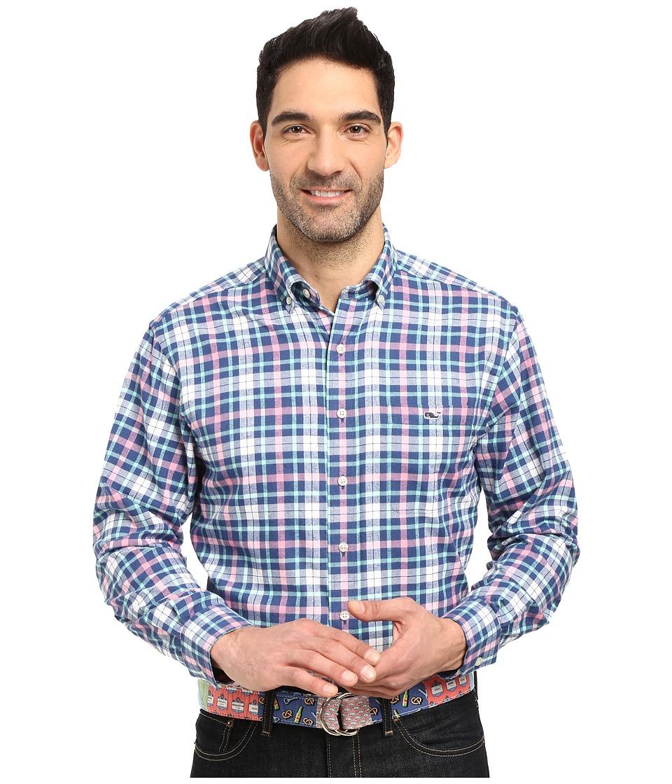 Vineyard Vines - Hawes Pond Plaid Tucker Shirt (Moonshine) Men's Clothing