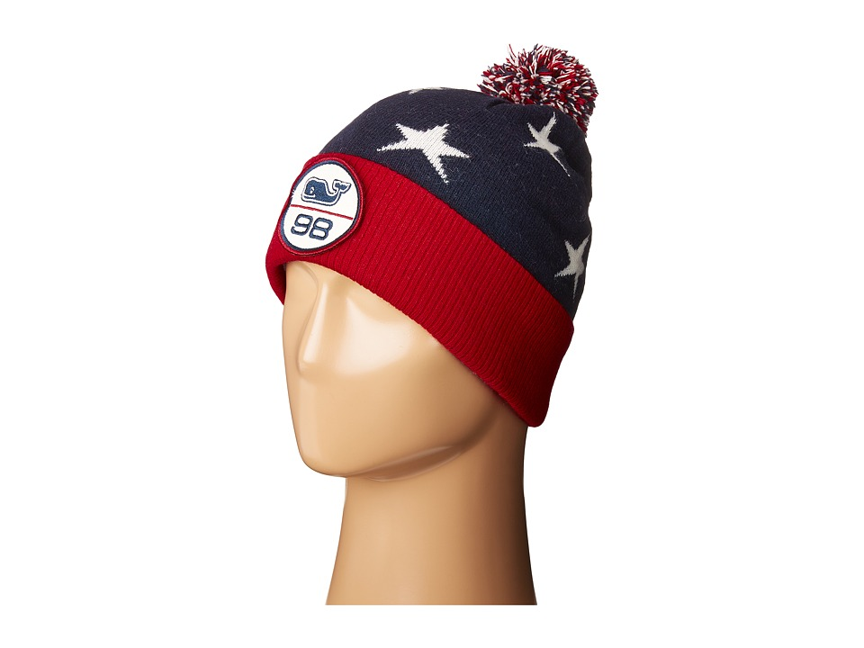Vineyard Vines - Stars Knit Ski Hat (Deep Bay) Knit Hats