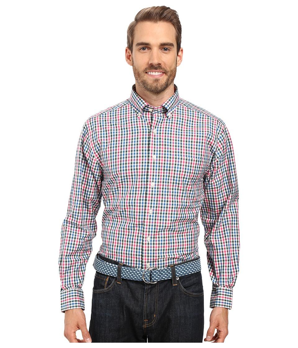 Vineyard Vines - Gooseberry Check Classic Murray Shirt (Cranberry) Men's Clothing