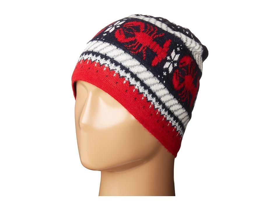 Vineyard Vines - Lobster Fair Isle Knit Cap (Deep Bay) Knit Hats