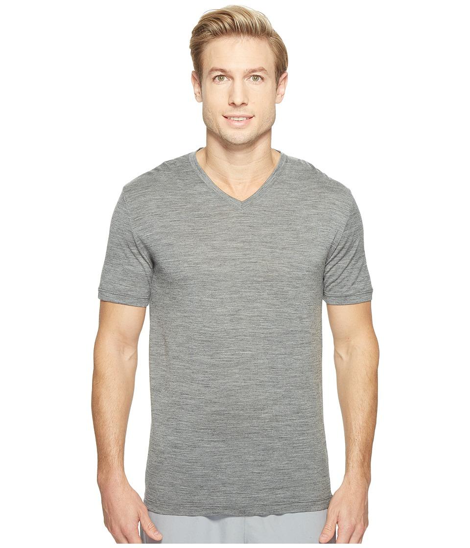 Icebreaker - Tech S/S V (Gritstone Heather) Men's T Shirt