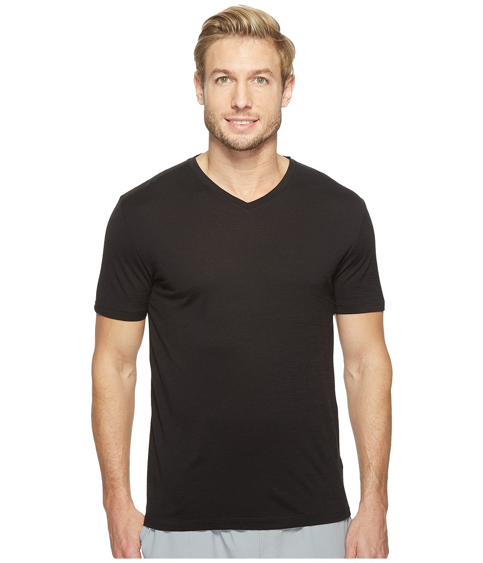 Icebreaker - Tech S/S V (Black) Men's T Shirt