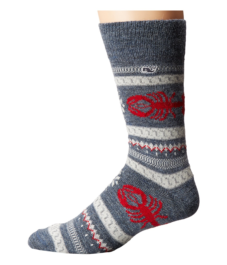 Vineyard Vines - Alpaca Lobster Fair Isle Sock (Moonshine) Men's Crew Cut Socks Shoes
