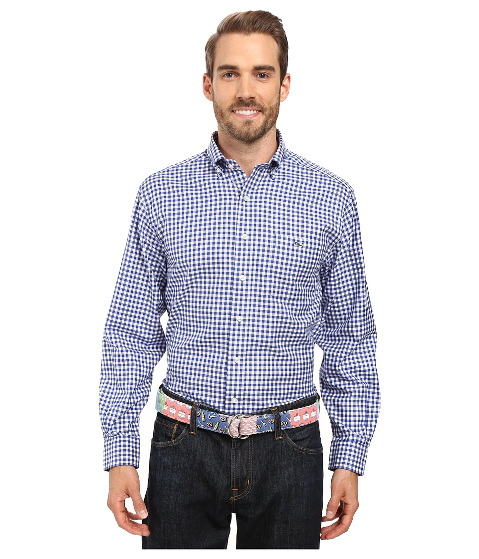 Vineyard Vines - Nottingham Gingham Classic Tucker Shirt (Royal Ocean) Men's Clothing