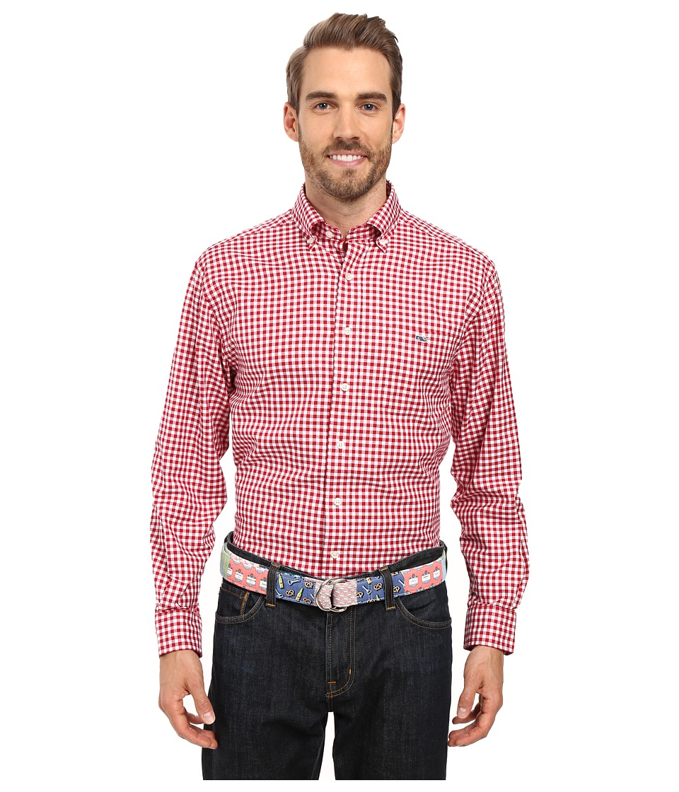 Vineyard Vines - Nottingham Gingham Classic Tucker Shirt (Lifeguard) Men's Clothing