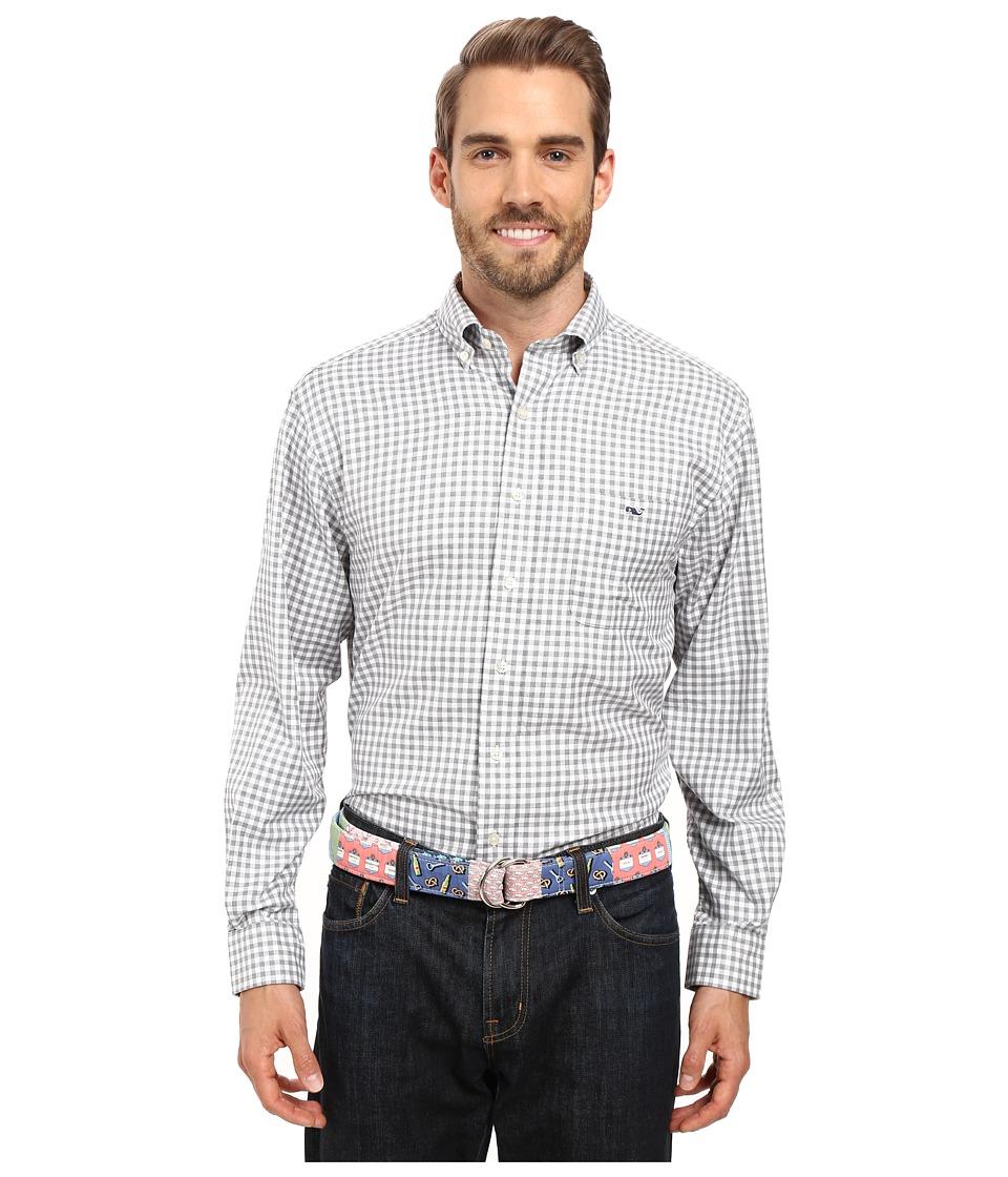 Vineyard Vines - Nottingham Gingham Classic Tucker Shirt (Sullivans Gray) Men's Clothing