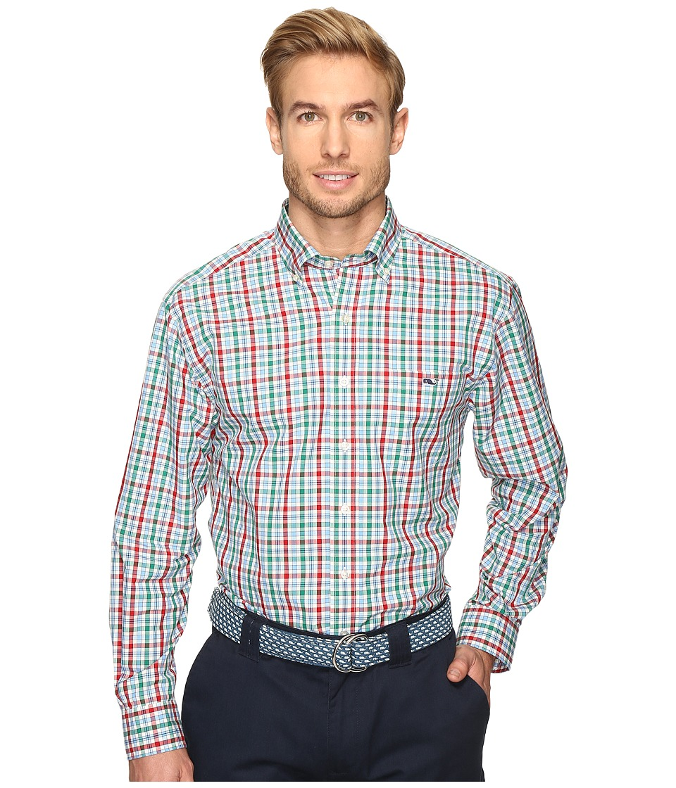 Vineyard Vines - Winterberry Check Classic Tucker Shirt (Holly) Men's Clothing