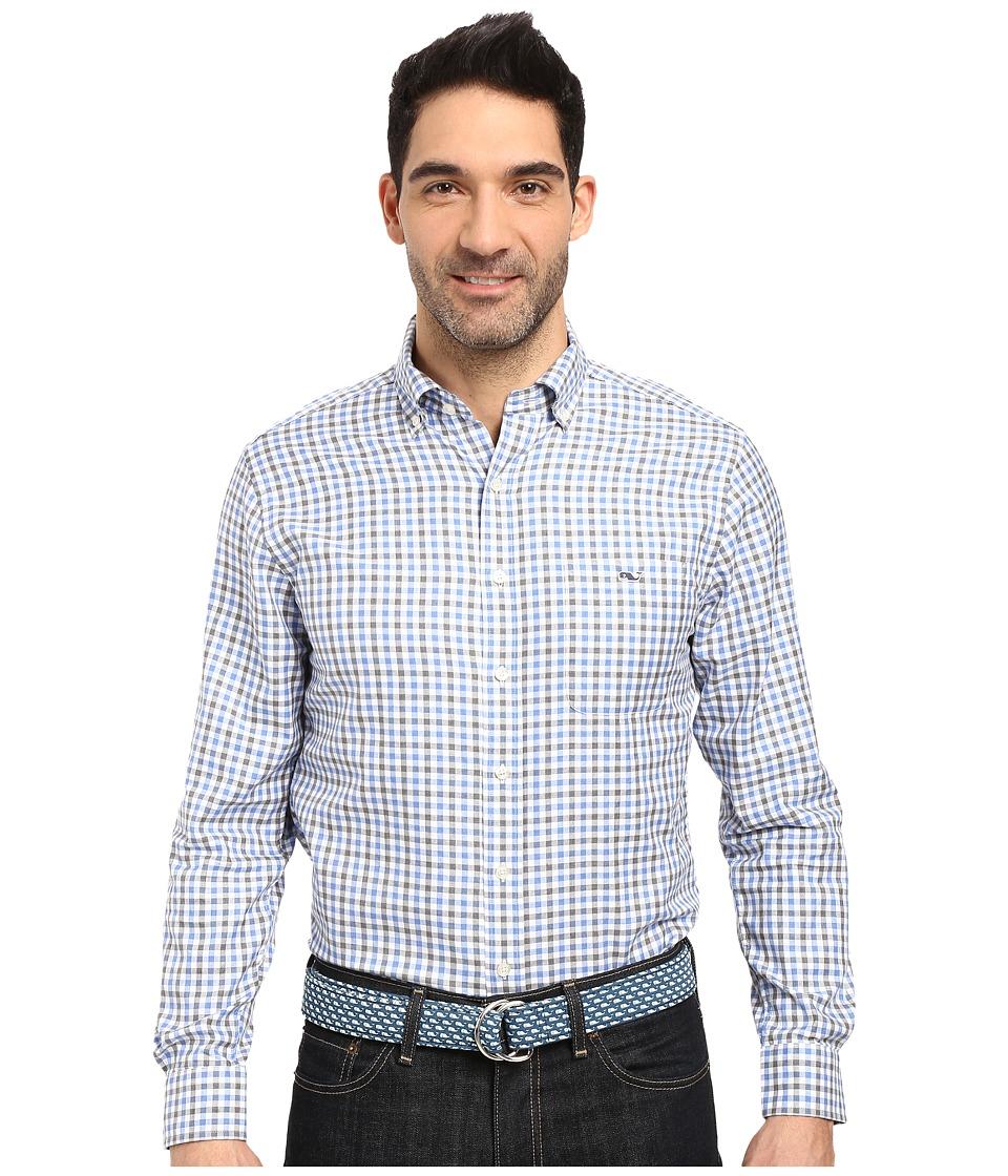 Vineyard Vines - Meadowbrook Gingham Slim Tucker Shirt (Harbor Cay) Men's Clothing