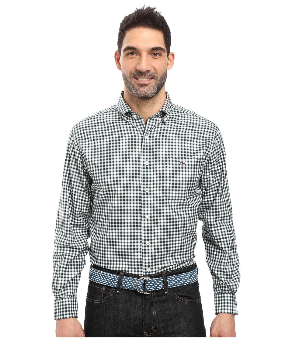 Vineyard Vines - Nottingham Gingham Classic Tucker Shirt (Charleston Green) Men's Clothing