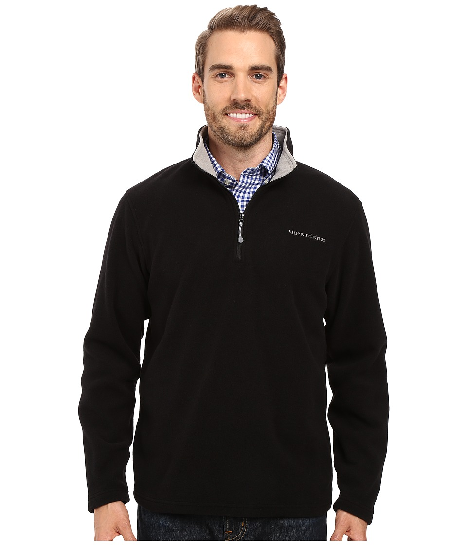 Vineyard Vines - Fleece 1/4 Zip (Jet Black) Men's Clothing