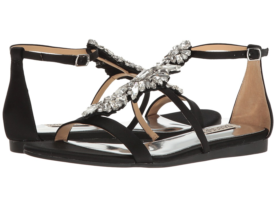 Badgley Mischka - Barstow (Black Satin) Women's Sandals