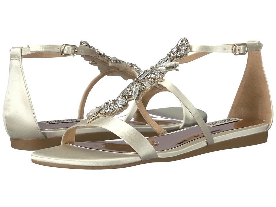Badgley Mischka - Barstow (Ivory Satin) Women's Sandals