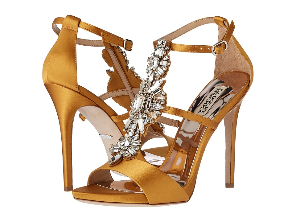 Badgley Mischka - Basile (Mayan Gold Satin) High Heels