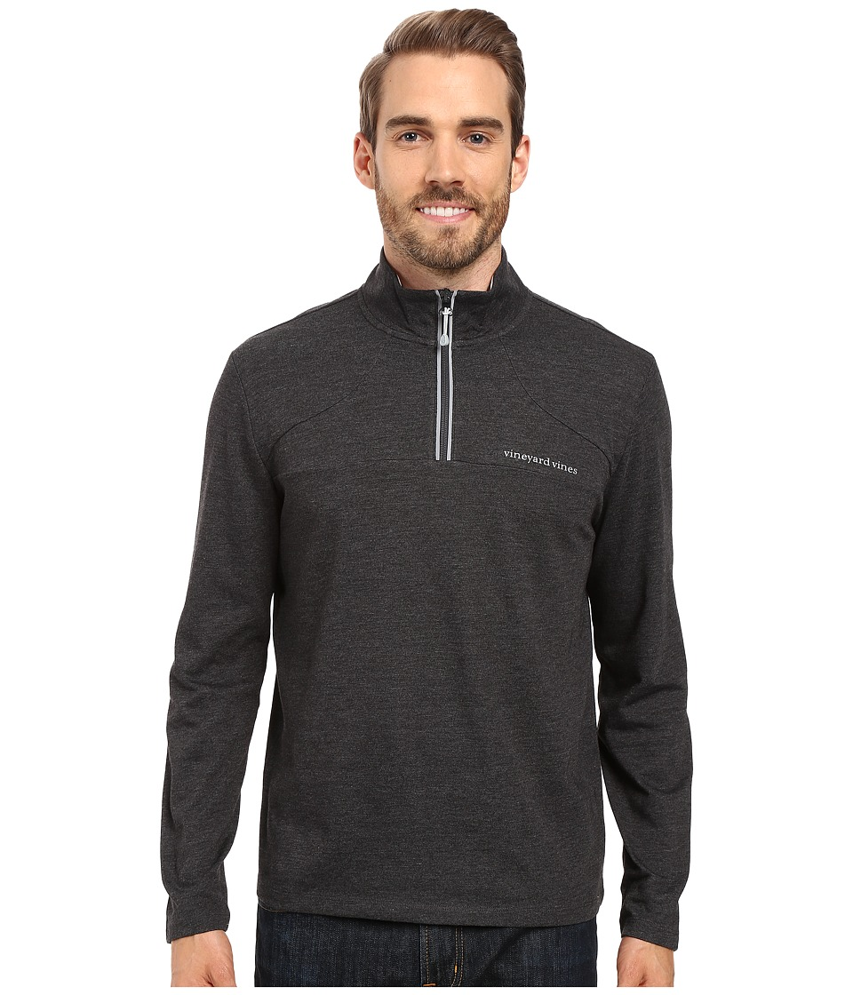 Vineyard Vines - Performance Sailing 1/4 Zip Shirt (Charcoal Heather) Men's Clothing