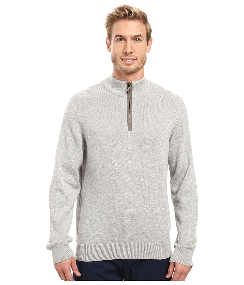 Vineyard Vines - Norton Point 1/4 Zip (Light Heather Gray) Men's Clothing