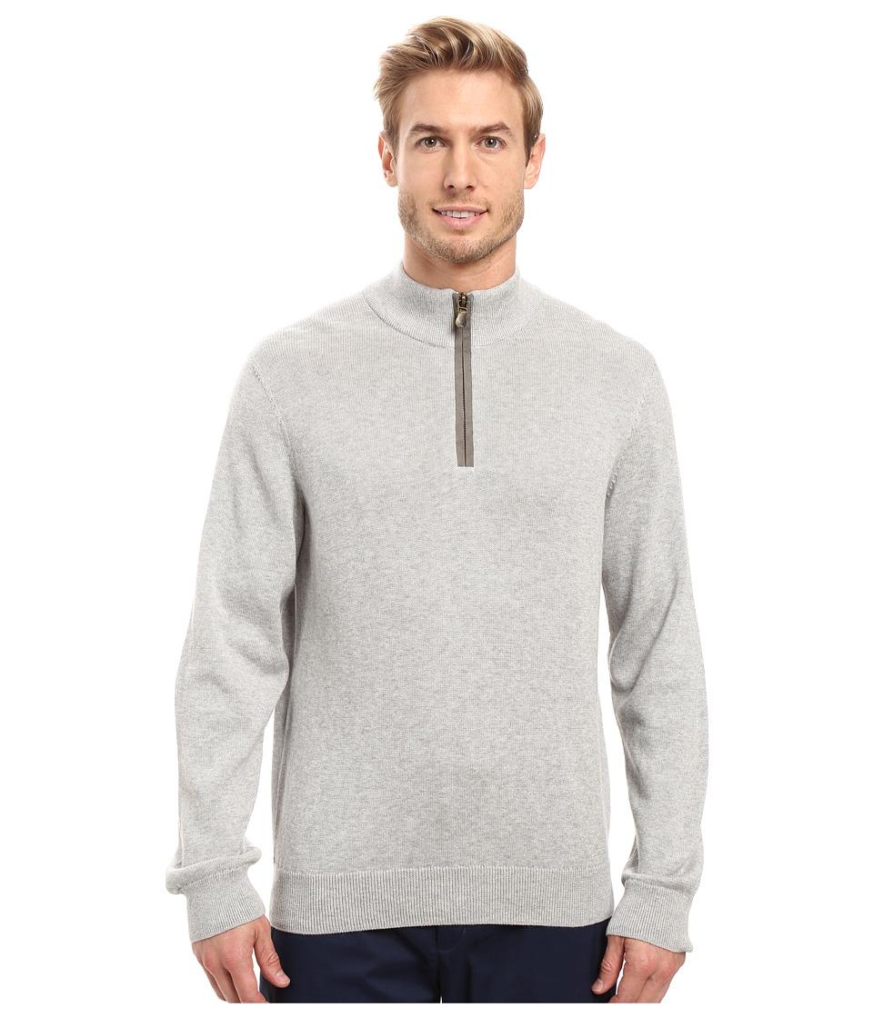 Vineyard Vines - Norton Point 1/4 Zip (Light Heather Gray) Men's Clothing