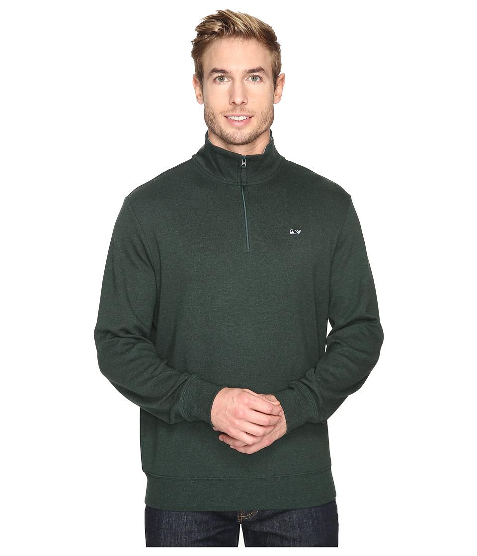 Vineyard Vines - Heather Cotton Jersey 1/4 (Charleston Green) Men's Clothing