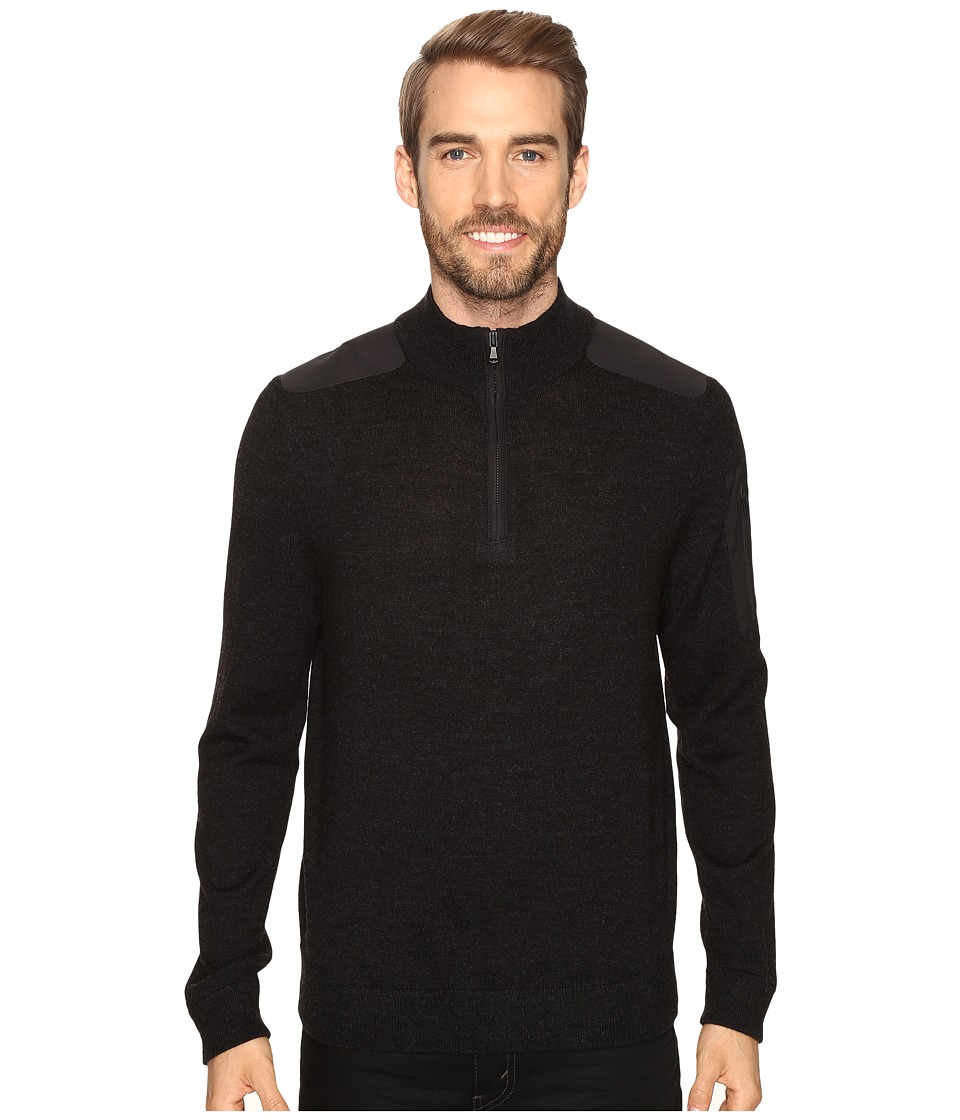 Vineyard Vines Bonded Performance Merino 1/4 Zip (Jet Black) Men