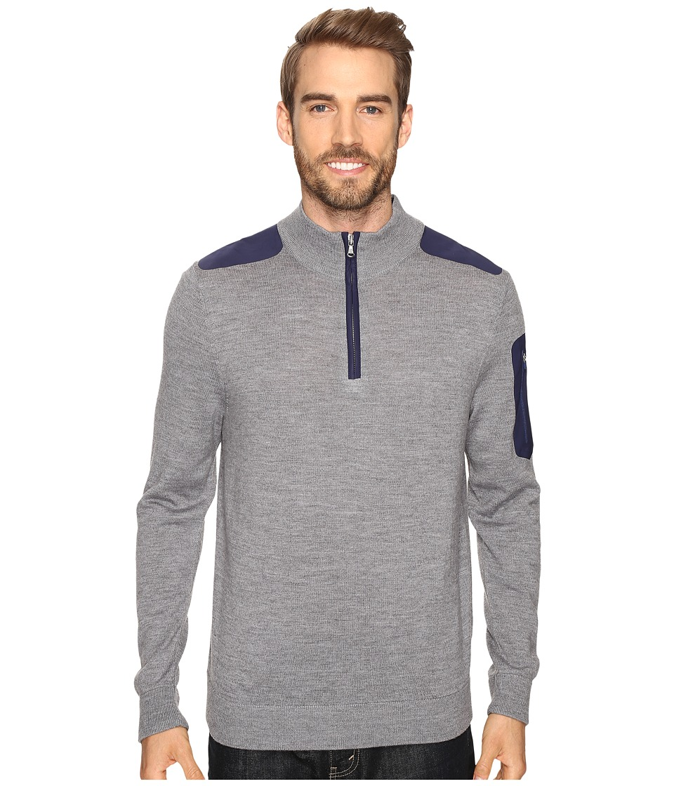 Vineyard Vines Bonded Performance Merino 1/4 Zip (Gray Heather) Men