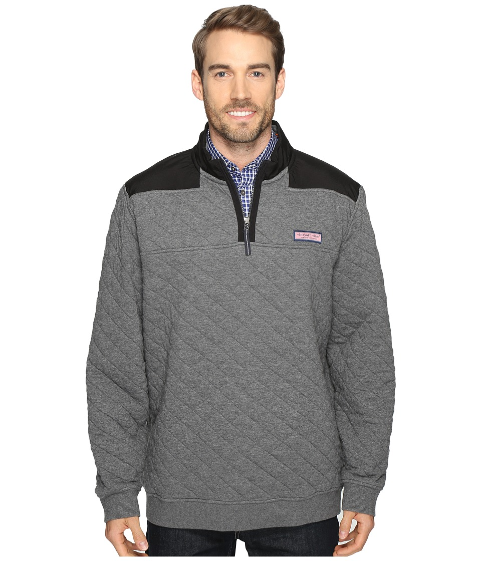 Vineyard Vines - Nylon Quilted Shep Shirt (Charcoal Heather) Men's Clothing