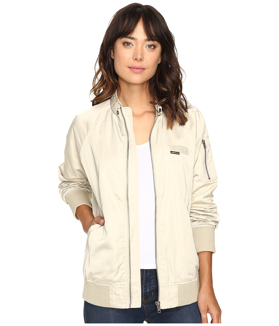 Members Only - Washed Satin Ex-Boyfriend Jacket (Bone) Women's Coat