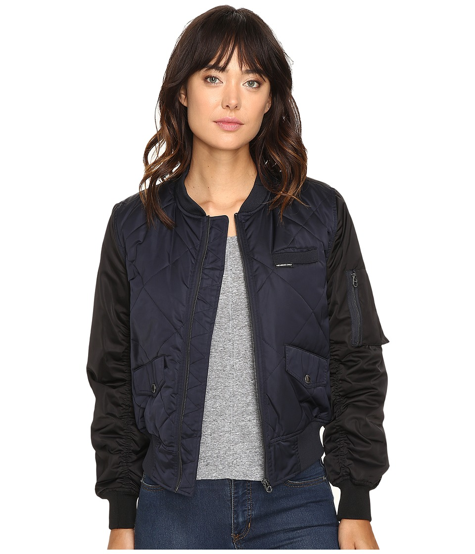 Members Only - Diamond Quilted Bomber Jacket (Authentic Navy) Women's Coat
