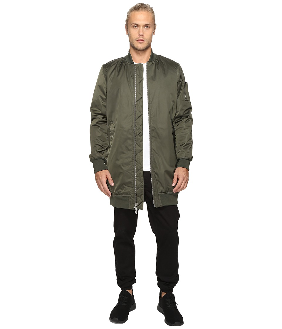 Members Only - Elongated MA-1 Bomber Jacket (Green) Men's Coat