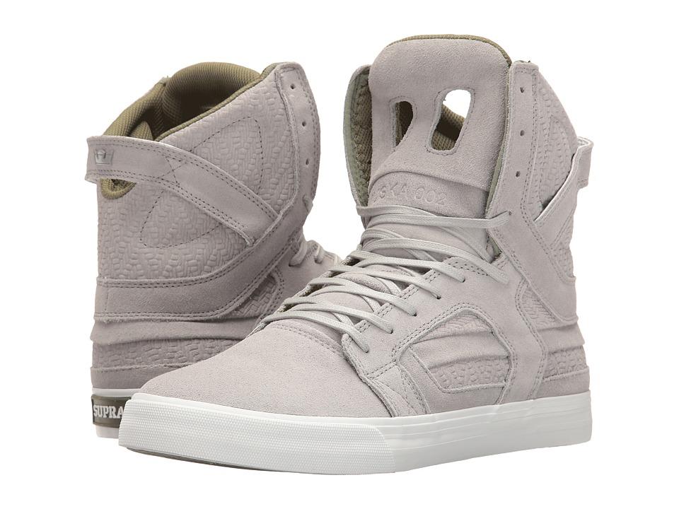 Supra - Skytop II (Light Grey/Olive/White) Men's Skate Shoes
