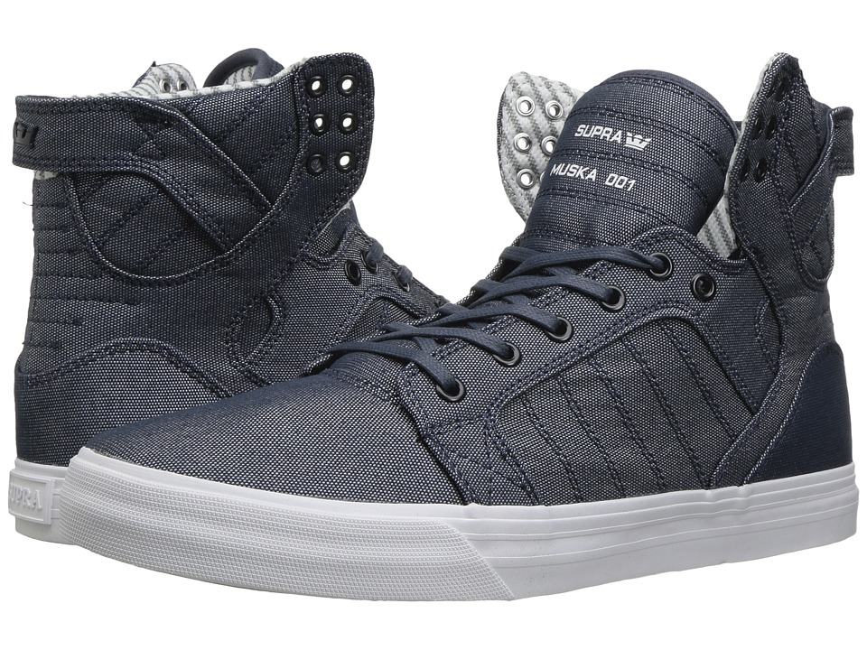 Supra - Skytop (Blue/White) Men's Skate Shoes