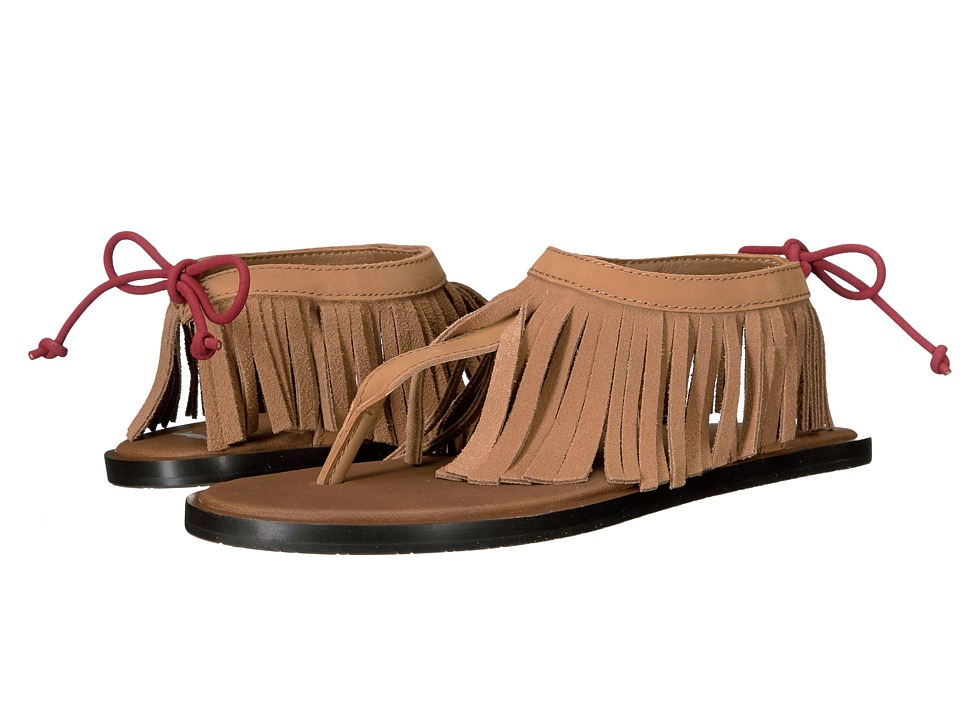 Sanuk - Yoga Fringe (Tobacco/Auburn) Women's Sandals