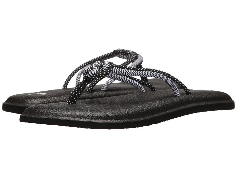 Sanuk - Yoga Knotty (Black/White) Women's Sandals