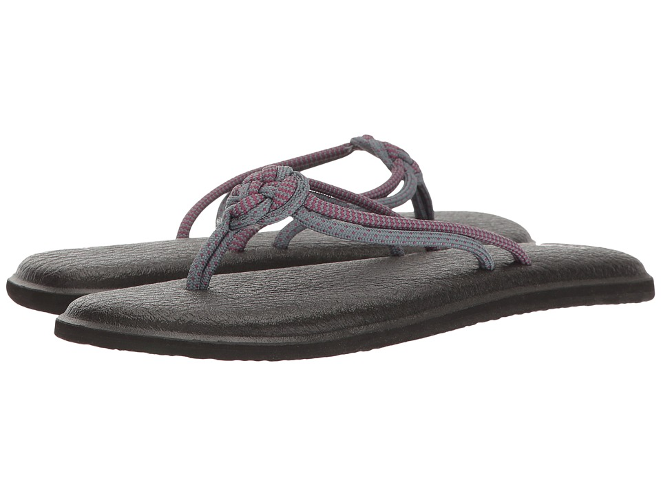 Sanuk - Yoga Knotty (Lead Grey/Wild Berry) Women's Sandals