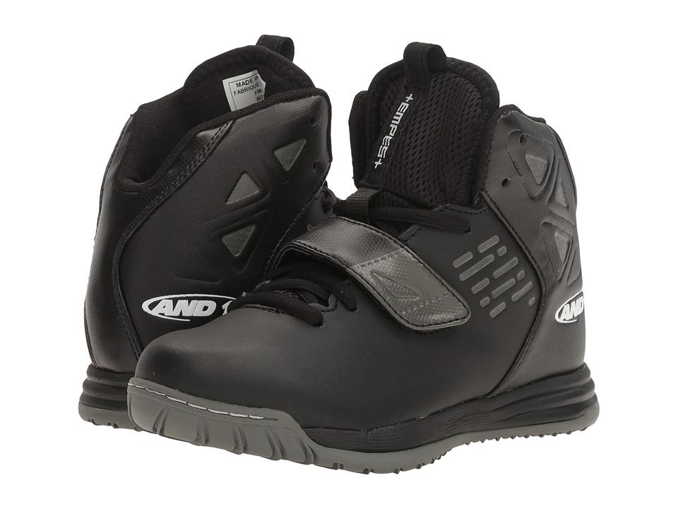 AND1 Kids Tempest (Little Kid/Big Kid) (Black/Castlerock Silver) Boys Shoes