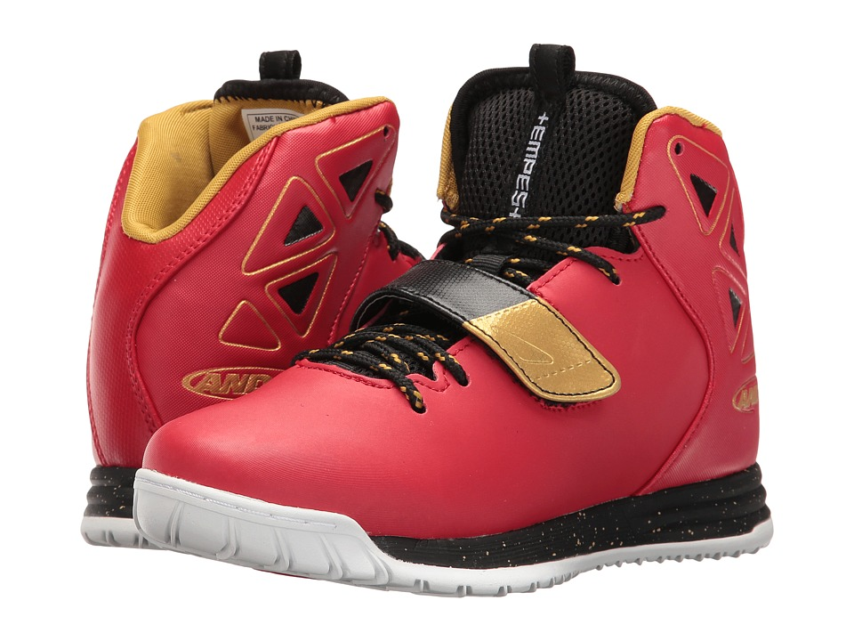 AND1 Kids - Tempest (Little Kid/Big Kid) (F1 Red/Black/Rich Gold/White) Boys Shoes