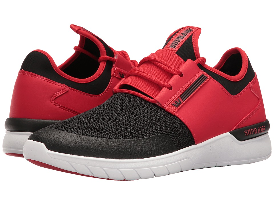 Supra - Flow Run (Red/Black/White) Men's Skate Shoes