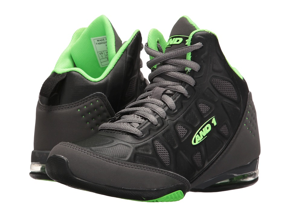 AND1 Kids - Master 3 (Little Kid/Big Kid) (Castlerock/Black/Jasmine Green) Boys Shoes
