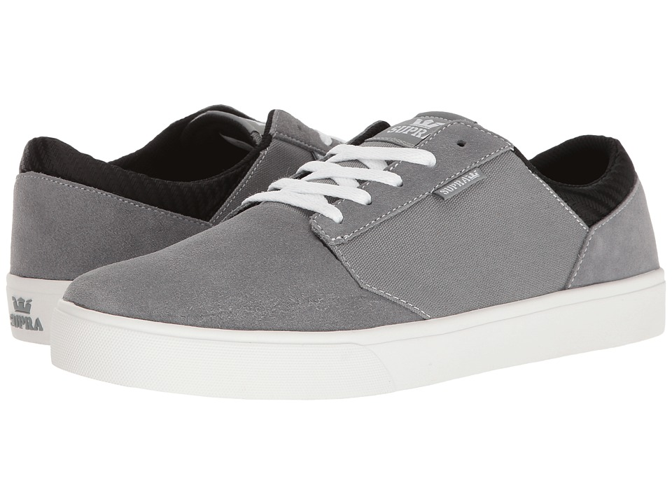 Supra - Yorek Low (Grey/White) Men's Skate Shoes