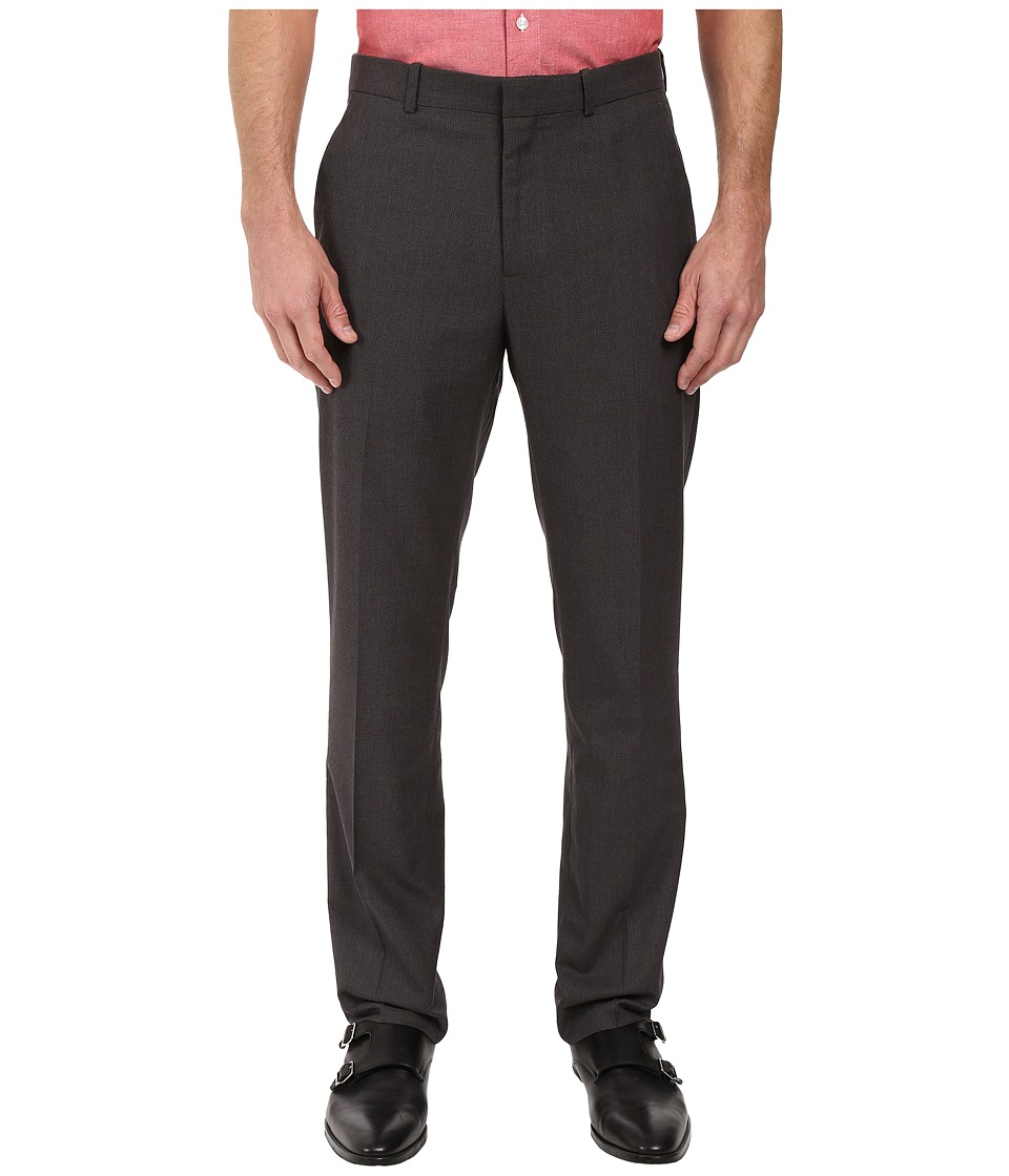 Perry Ellis Portfolio - Portfolio Slim Heathered Basket Weave Pants (Charcoal) Men's Dress Pants