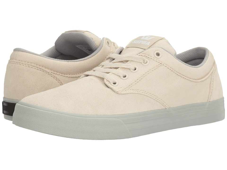Supra - Chino (Off-White/Light Grey) Men's Skate Shoes