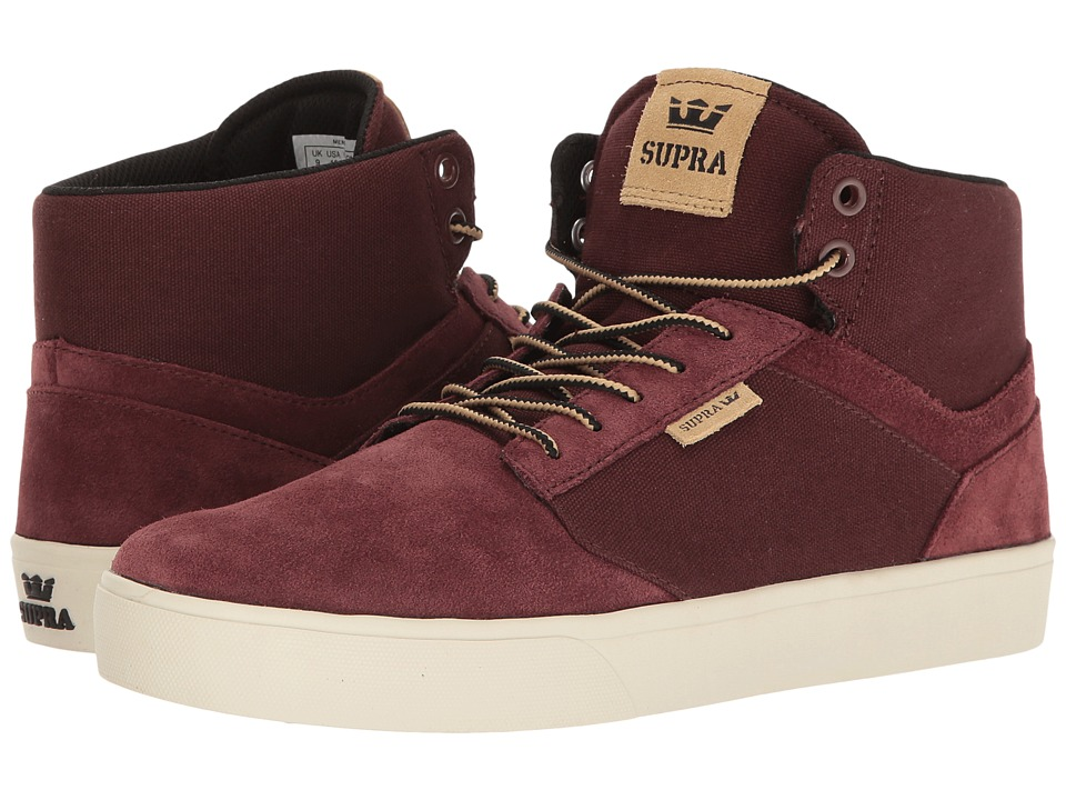 Supra - Yorek Hi (Mahogany/Off-White) Men's Skate Shoes